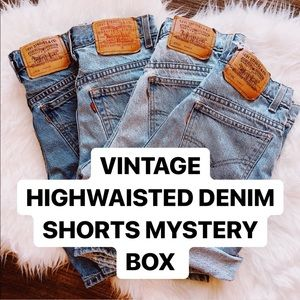 VINTAGE DENIM SHORTS MYSTERY BOX